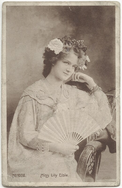 Lily Elsie (Mrs Bullough), by Unknown photographer, early 1900s - NPG x135254 - © National Portrait Gallery, London