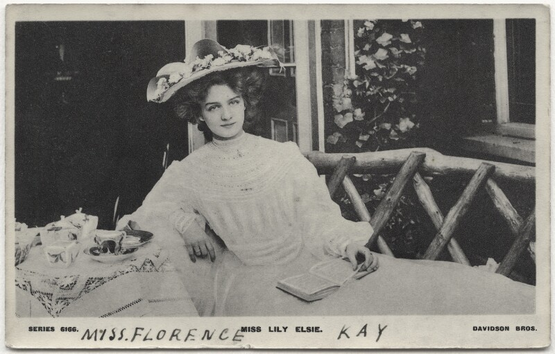 Lily Elsie, published by Davidson Brothers, circa 1905 - NPG x135255 - © National Portrait Gallery, London
