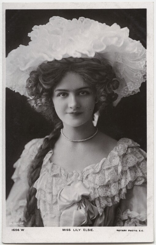 Lily Elsie (Mrs Bullough), by Bassano Ltd, published by  Rotary Photographic Co Ltd, circa 1905 - NPG x135256 - © National Portrait Gallery, London