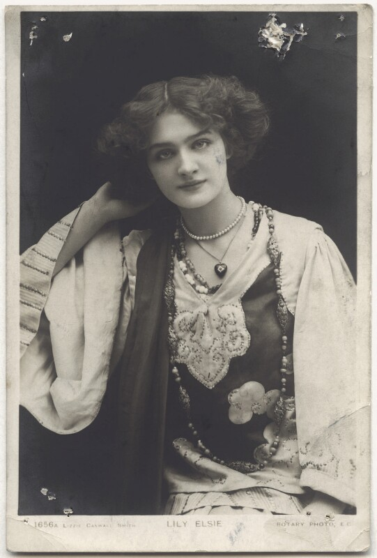 Lily Elsie (Mrs Bullough), by Lizzie Caswall Smith, published by  Rotary Photographic Co Ltd, 1900s - NPG x135264 - © National Portrait Gallery, London