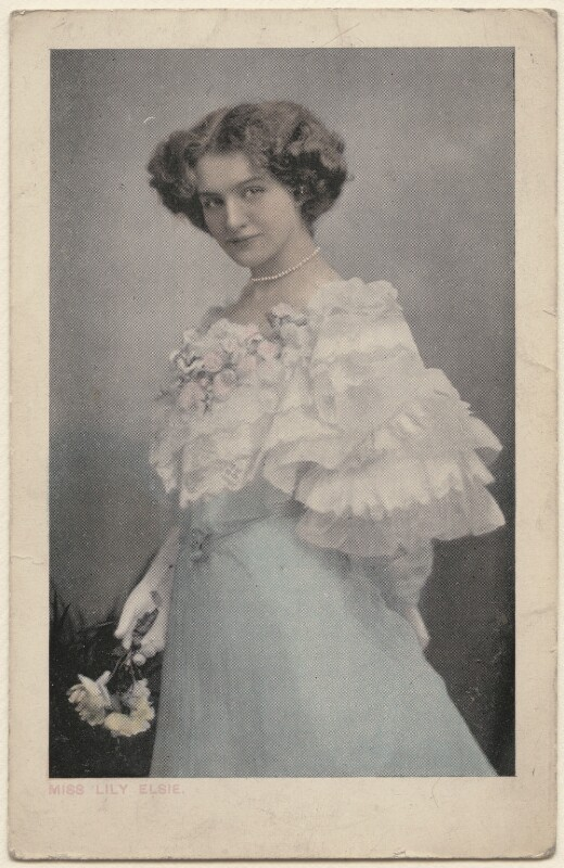 Lily Elsie (Mrs Bullough), by Unknown photographer, 1900s - NPG x135267 - © National Portrait Gallery, London