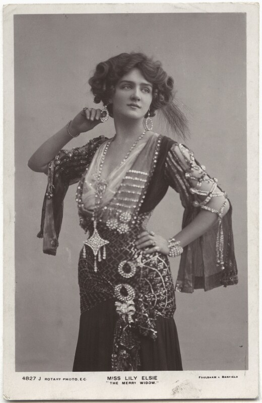 Lily Elsie (Mrs Bullough) as Sonia in 'The Merry Widow', by Foulsham & Banfield, published by  Rotary Photographic Co Ltd, 1907 - NPG x135274 - © National Portrait Gallery, London