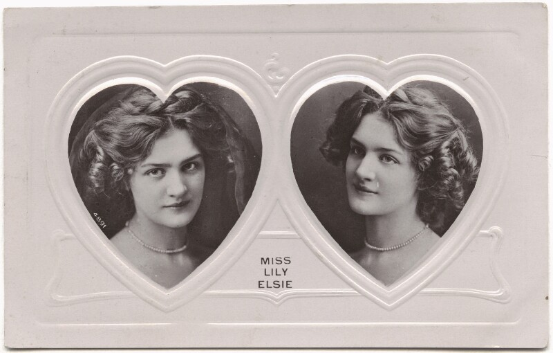 Lily Elsie (Mrs Bullough), published by Davidson Brothers, mid 1900s - NPG x135281 - © National Portrait Gallery, London