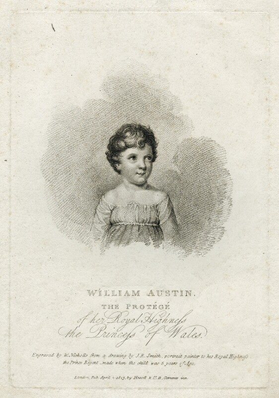 William Austin, by William Nicholls, published by  Hassell & Co, after  John Raphael Smith, published 1813 - NPG D38618 - © National Portrait Gallery, London