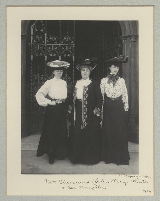 Violet Mignon Stannard; Henrietta Eliza Vaughan Stannard (née Palmer); Audrey Noel Palmer Stannard, by Benjamin Stone, 1904 - NPG x135319 - © National Portrait Gallery, London