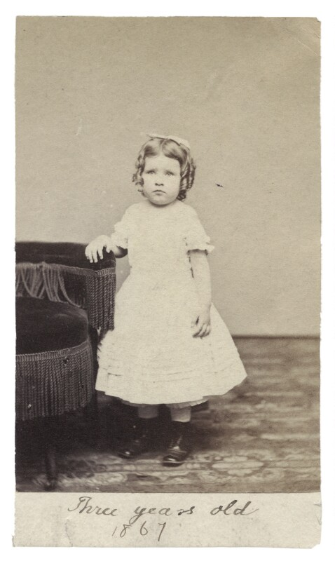 Mary Berenson (née Smith), by Unknown photographer, 1867 - NPG Ax160518 - © National Portrait Gallery, London