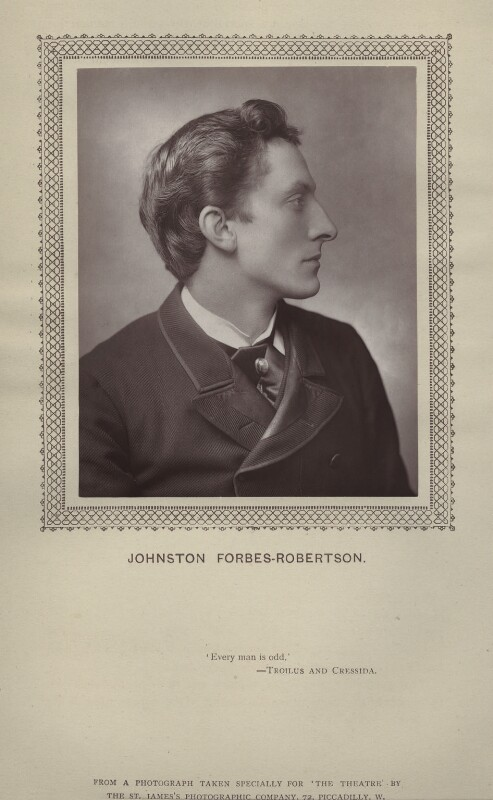 Sir Johnston Forbes-Robertson, by St James's Photographic Co, published mid 1880s - NPG x135388 - © National Portrait Gallery, London