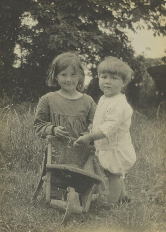 Barbara Strachey; Christopher Strachey, by Unknown photographer, Spring 1918 - NPG Ax160843 - © National Portrait Gallery, London