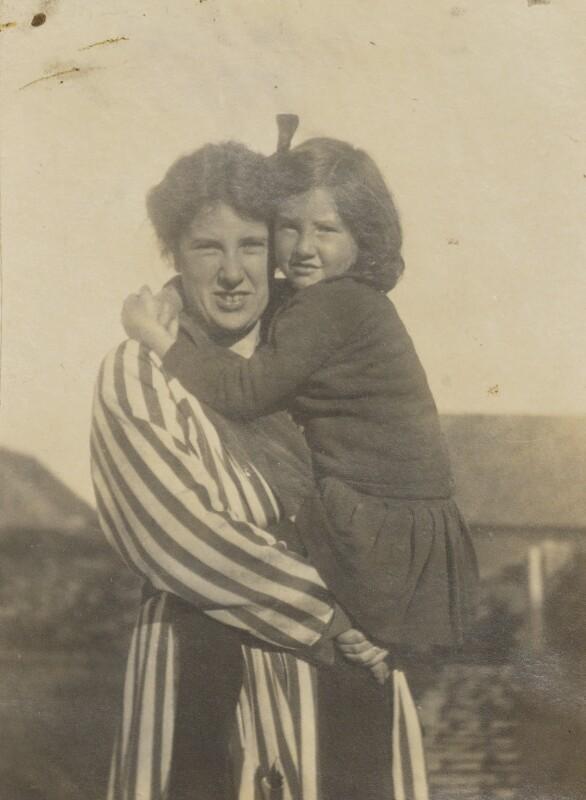 Ray Strachey; Barbara Strachey (Hultin, later Halpern), by Unknown photographer, 1917 - NPG Ax160844 - © National Portrait Gallery, London