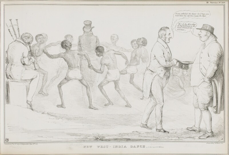 New West-India Dance, to the Tune of 20 Millions, by John ('HB') Doyle, printed by  Alfred Ducôte, published by  Thomas McLean, published 18 June 1833 - NPG D41204 - © National Portrait Gallery, London