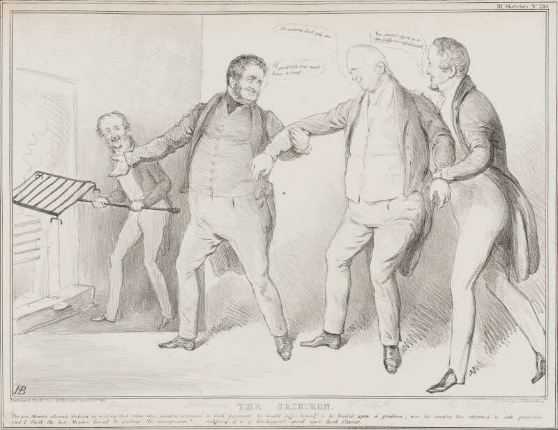 The Gridiron, by John ('HB') Doyle, published by  Alfred Ducôte, after  Thomas McLean, published 28 August 1833 - NPG D41219 - © National Portrait Gallery, London