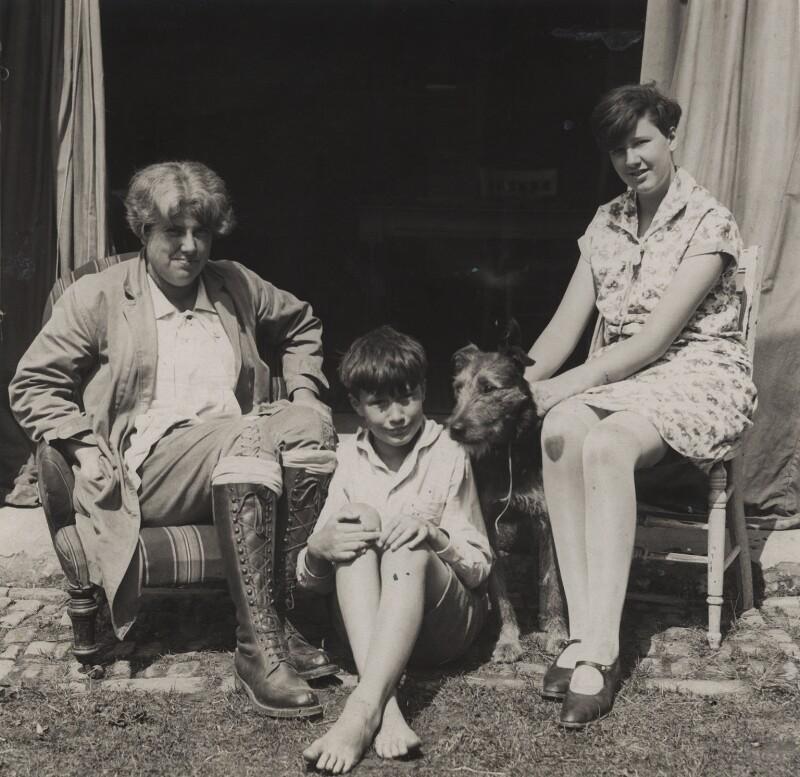 Ray Strachey; Christopher Strachey; Barbara Strachey (Hultin, later Halpern), by Special Press, 1928 - NPG Ax161158 - © National Portrait Gallery, London