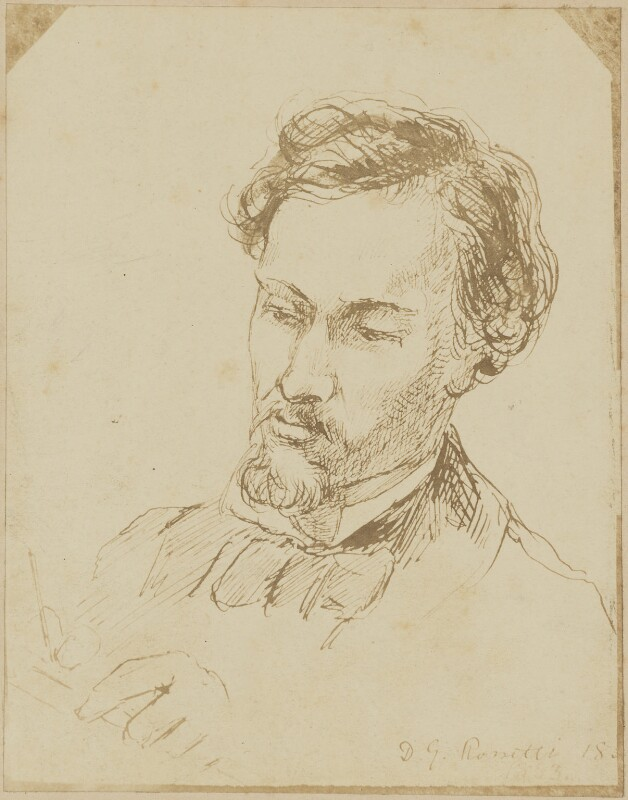 Dante Gabriel Rossetti, possibly after Dante Gabriel Rossetti, (circa 1860s) - NPG D9932 - © National Portrait Gallery, London