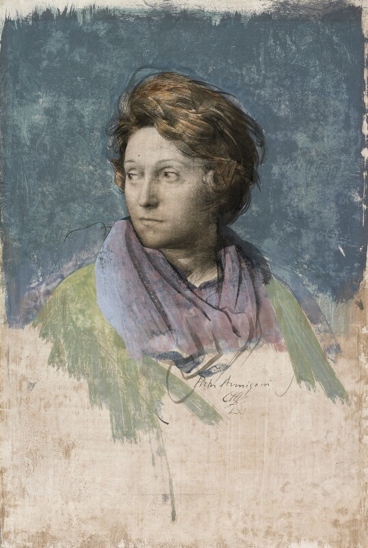Odette Marie Céline Hallowes (née Brailly), by Pietro Annigoni, 1961 - NPG 6932 - © estate of Pietro Annigoni / National Portrait Gallery, London