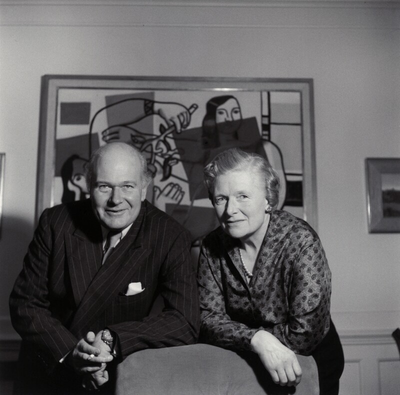 Sir Robert Philip Wyndham Adeane; Kathleen Hamet (née Dunn), Lady Adeane, by Ida Kar, 1959 - NPG x135430 - © National Portrait Gallery, London