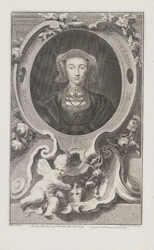Anne of Cleves, by Jacobus Houbraken, published by  John & Paul Knapton, after  Hans Holbein the Younger, 1740 - NPG D42237 - © National Portrait Gallery, London