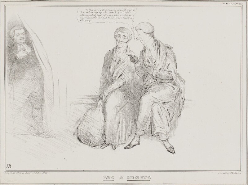 Bug & Humbug, by John ('HB') Doyle, printed by  Alfred Ducôte, published by  Thomas McLean, published 1 January 1834 - NPG D41228 - © National Portrait Gallery, London
