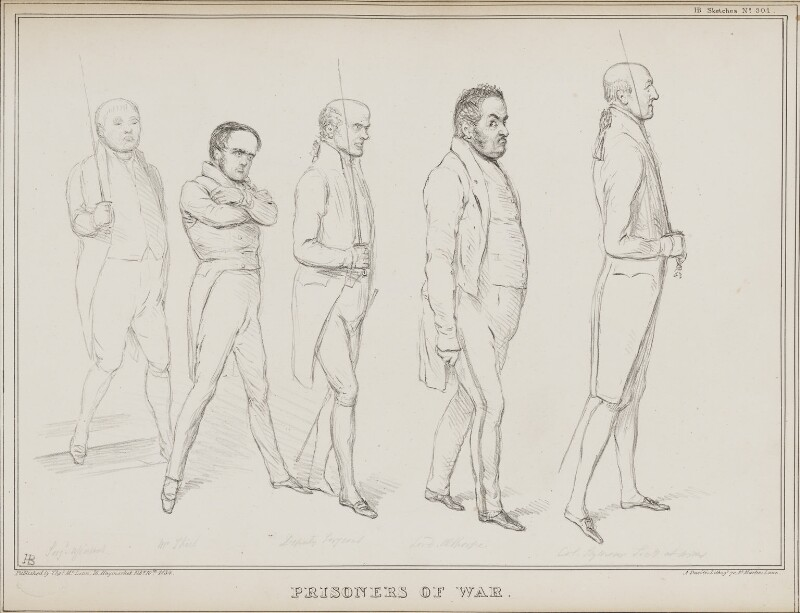 Prisoners of War, by John ('HB') Doyle, printed by  Alfred Ducôte, published by  Thomas McLean, published 10 February 1834 - NPG D41236 - © National Portrait Gallery, London