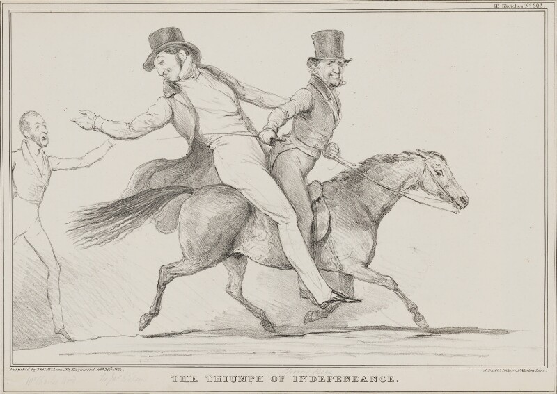 The Triumph of Independence, by John ('HB') Doyle, printed by  Alfred Ducôte, published by  Thomas McLean, published 24 February 1834 - NPG D41238 - © National Portrait Gallery, London