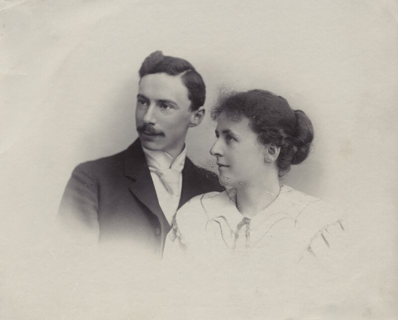 The Wedding of Bertrand Russell and Alys Pearsall Smith, by Unknown photographer, 13 December 1894 - NPG Ax160690 - © National Portrait Gallery, London