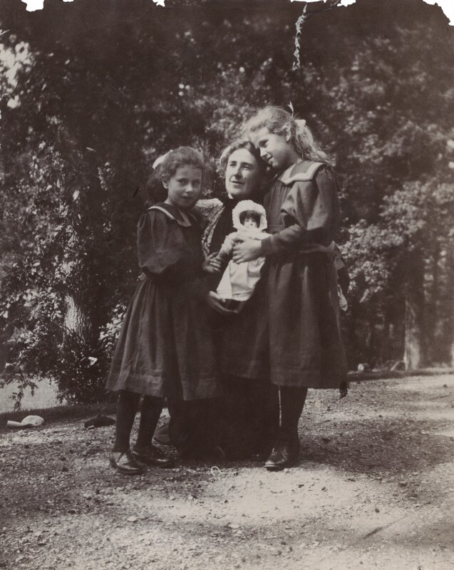 Mary Costelloe with her daughters Karin and Ray, by Unknown photographer, 1896 - NPG Ax160697 - © National Portrait Gallery, London