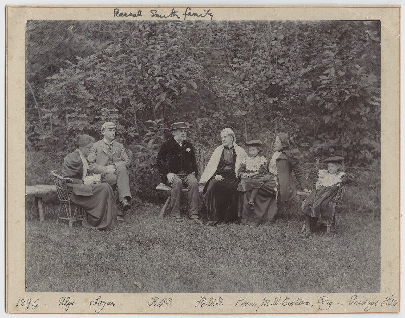 Pearsall Smith Family, by Unknown photographer, 1894 - NPG Ax160701 - © National Portrait Gallery, London