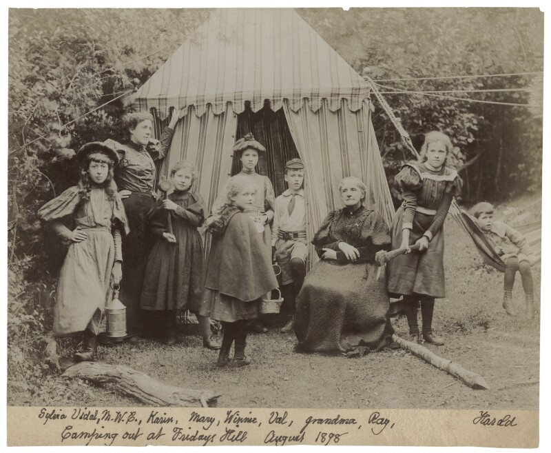 'Camping out at Friday's Hill', by Unknown photographer, August 1898 - NPG Ax160704 - © National Portrait Gallery, London