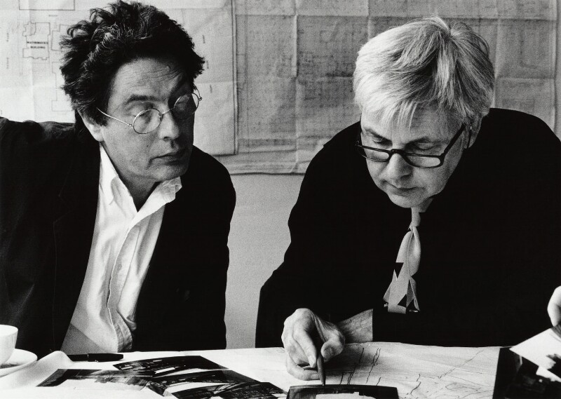 Edward David Brynmor Jones; Sir (David) Jeremy Dixon, by Sandra Lousada, 1994 - NPG x135468 - © Sandra Lousada