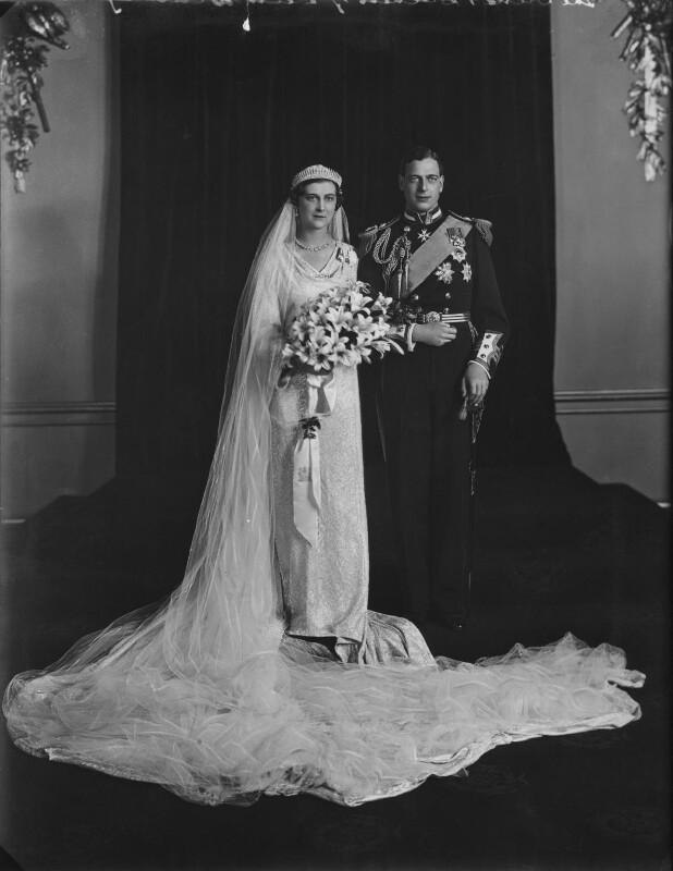 The Wedding of Princess Marina, Duchess of Kent and Prince George, Duke of Kent, by Elliott & Fry, 29 November 1934 - NPG x104247 - © National Portrait Gallery, London