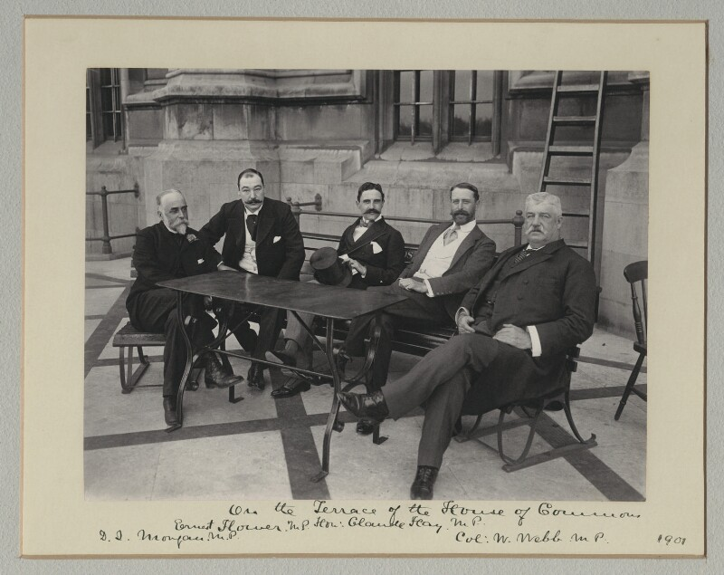 'On the Terrace of the House of Commons', by Benjamin Stone, July 1901 - NPG x135484 - © National Portrait Gallery, London