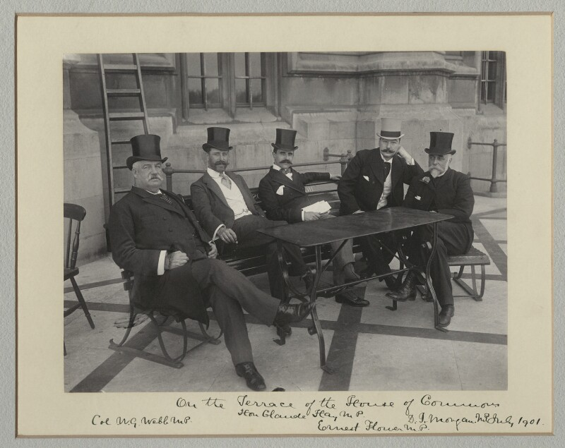'On the Terrace of the House of Commons', by Sir (John) Benjamin Stone, July 1901 - NPG x135485 - © National Portrait Gallery, London