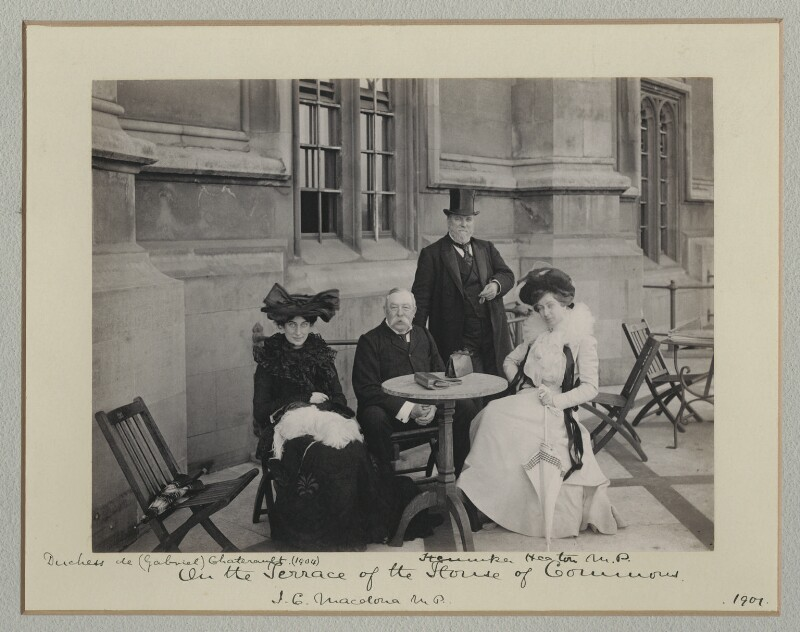 'On the Terrace of the House of Commons', by Benjamin Stone, 1901 - NPG x135486 - © National Portrait Gallery, London