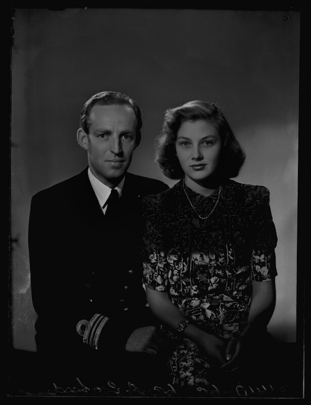 Thomas Mervyn Smith-Dorrien-Smith; Princess Tamara Imeretinsky, by Bassano Ltd, 13 July 1945 - NPG x178993 - © National Portrait Gallery, London