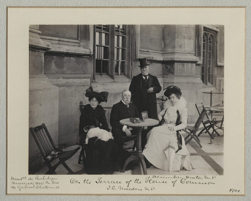 'On the Terrace of the House of Commons', by Benjamin Stone, 1901 - NPG x135487 - © National Portrait Gallery, London