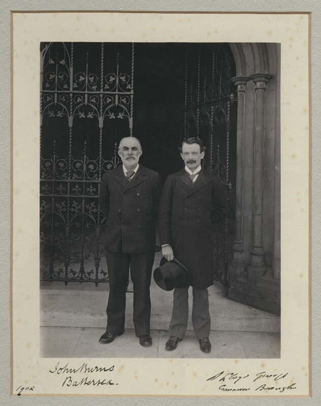 John Elliott Burns; David Lloyd George, by Benjamin Stone, 1902 - NPG x135489 - © National Portrait Gallery, London