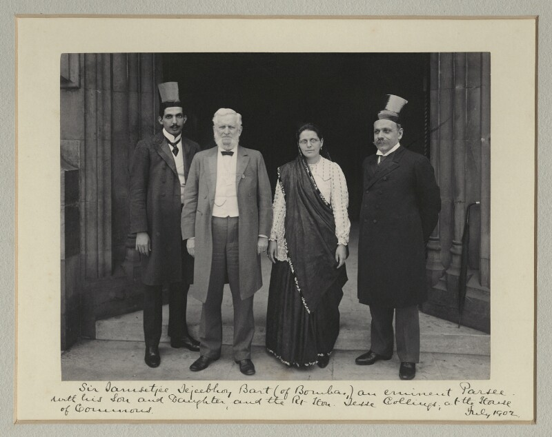 Group at the Houses of Parliament, by Benjamin Stone, July 1902 - NPG x135494 - © National Portrait Gallery, London