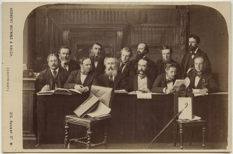 The Jury at the Tichborne Criminal Trial, by Watkins & Haigh, 1873 - NPG x135499 - © National Portrait Gallery, London