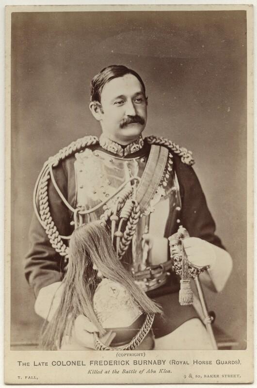 Frederick Burnaby, by Thomas Fall, 1885 (before November 1884) - NPG x135501 - © National Portrait Gallery, London