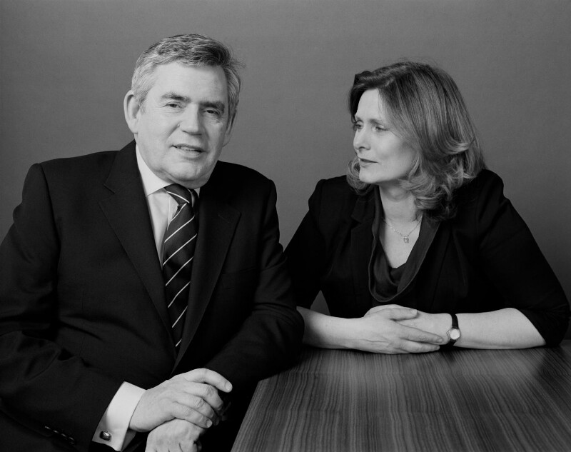 Gordon Brown; Sarah Brown (née Macaulay), by Tom Miller, 16 February 2011 - NPG x135498 - © Tom Miller