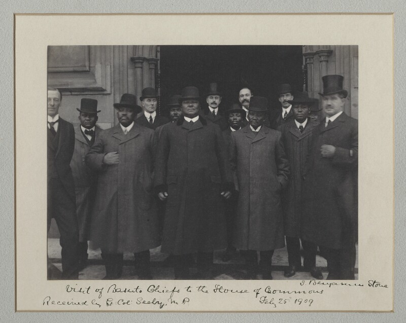 'Visit of Basuto Chiefs to the House of Commons', by Sir (John) Benjamin Stone, 25 February 1909 - NPG x135507 - © National Portrait Gallery, London
