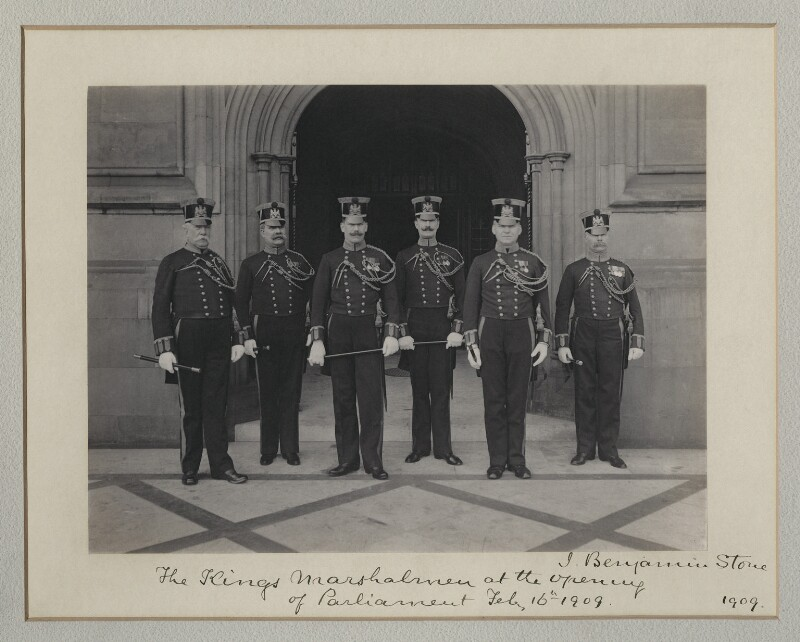 'The King's Marshalmen at the opening of Parliament', by Benjamin Stone, 16 February 1909 - NPG x135508 - © National Portrait Gallery, London