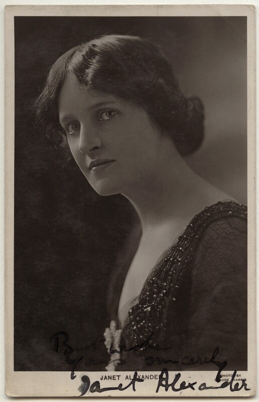 Janet Alexander, by Claude Harris, 1920s - NPG x160475 - © National Portrait Gallery, London