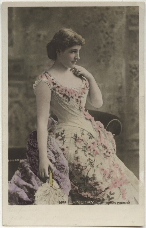 Lillie Langtry as Lena Despard in 'As in a Looking Glass', by Benjamin Joseph Falk, published by  Rotary Photographic Co Ltd, 1887 - NPG x160521 - © National Portrait Gallery, London