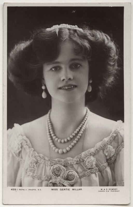 Gertie Millar, by W. & D. Downey, published by  Rotary Photographic Co Ltd, mid 1900s - NPG x160528 - © National Portrait Gallery, London