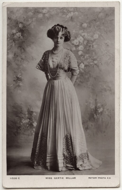 Gertie Millar, published by Rotary Photographic Co Ltd, circa 1910 - NPG x160529 - © National Portrait Gallery, London