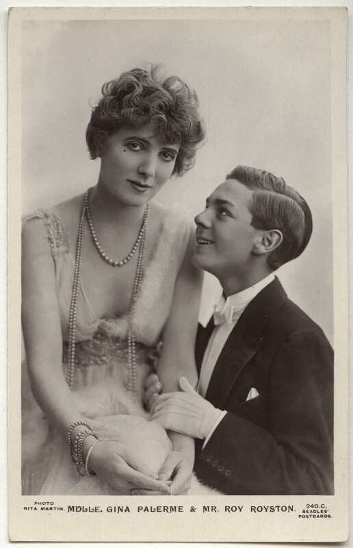 Gina Palerme and Roy Royston in 'Bric-A-Brac', by Rita Martin, published by  J. Beagles & Co, 1915 - NPG x160543 - © National Portrait Gallery, London