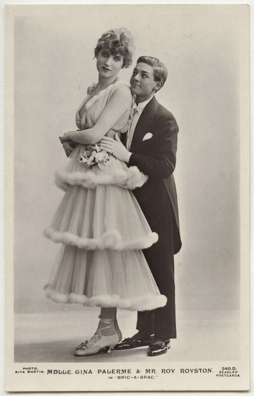 Gina Palerme and Roy Royston in 'Bric-A-Brac', by Rita Martin, published by  J. Beagles & Co, 1915 - NPG x160544 - © National Portrait Gallery, London