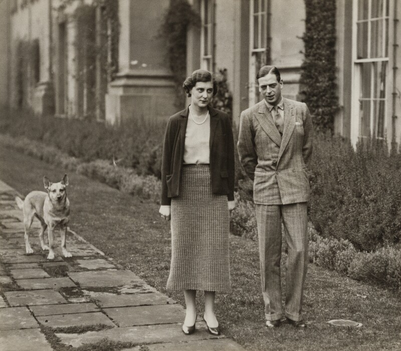 Princess Marina, Duchess of Kent; Prince George, Duke of Kent, by Unknown photographer, for  The Times, 1934 - NPG x135528 - © National Portrait Gallery, London