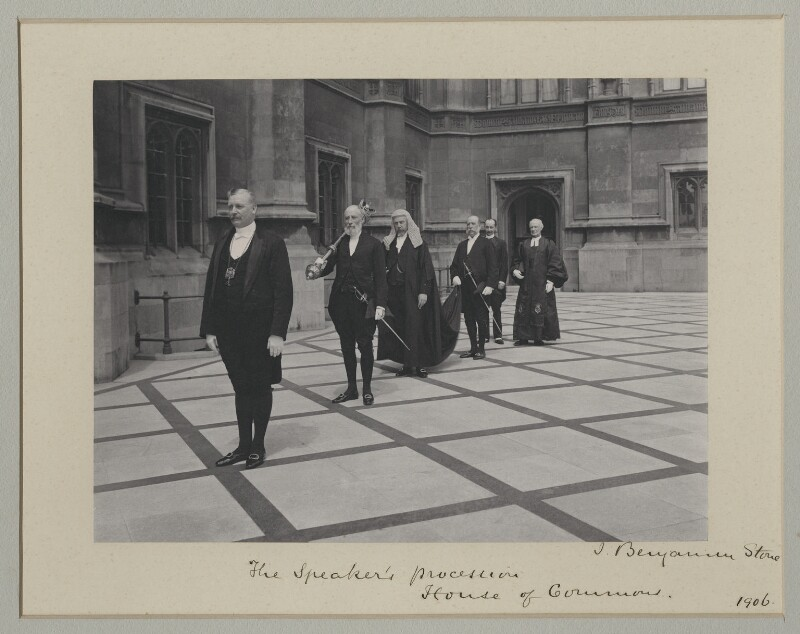 'The Speaker's procession', by Benjamin Stone, July 1906 - NPG x135537 - © National Portrait Gallery, London