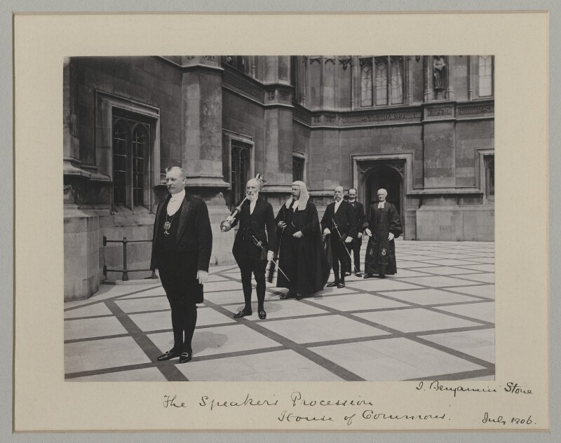 'The Speaker's procession', by Sir (John) Benjamin Stone, July 1906 - NPG x135538 - © National Portrait Gallery, London